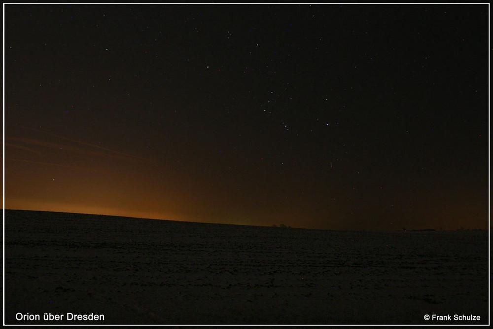 Orion über Dresden