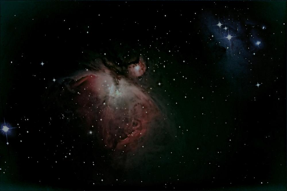 Oriongebiet M42 M43 und Running MAN
