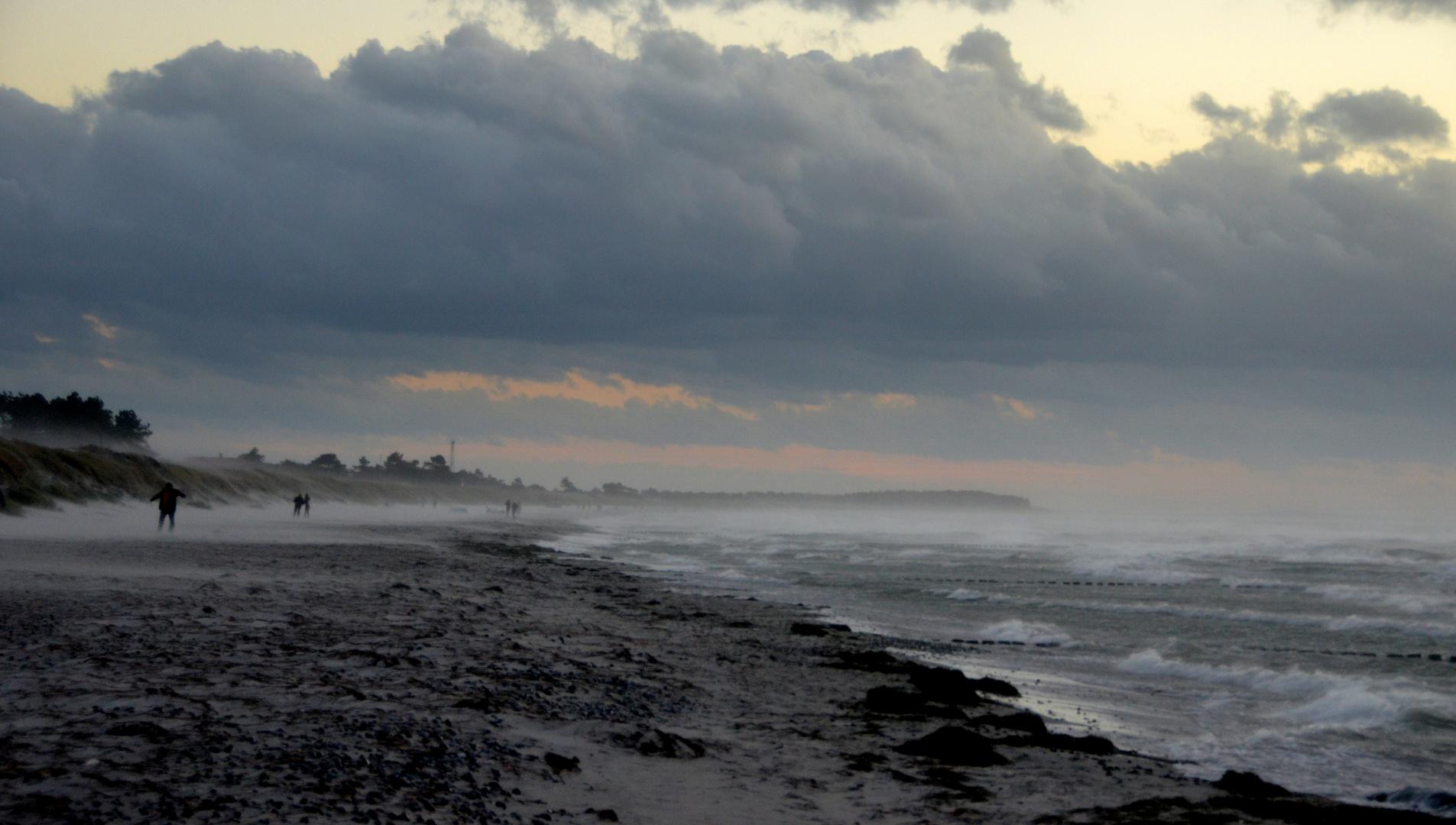 Orkan an der Ostsee