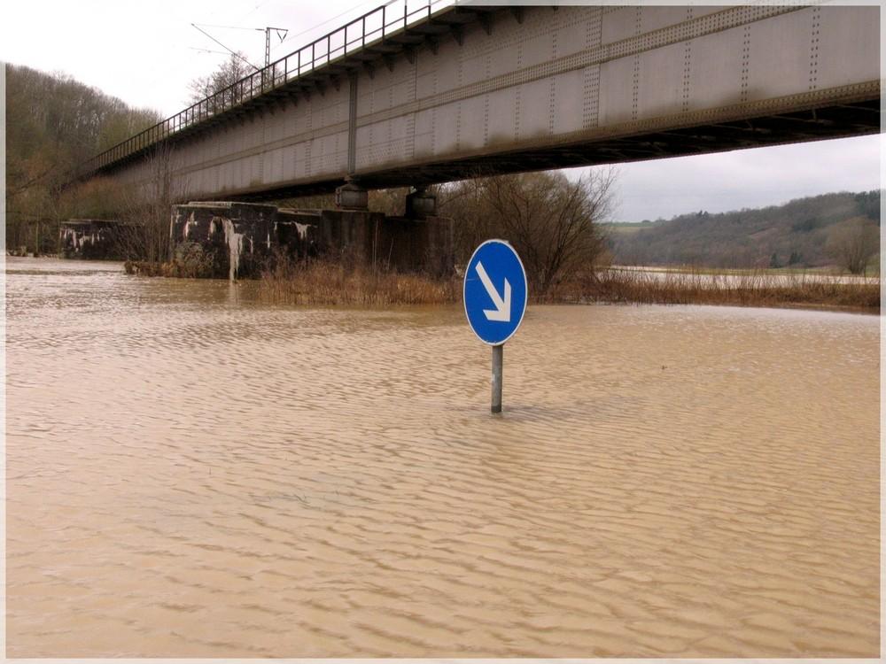 Orkan Emma - Hochwasser