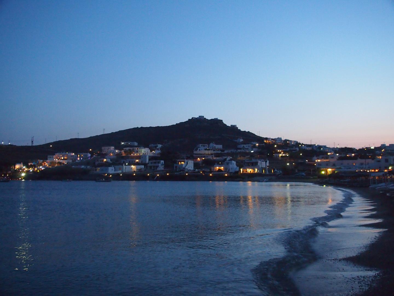 Ornos beach am Abend