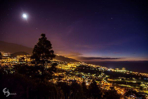 Orotava-Tal bei Nacht