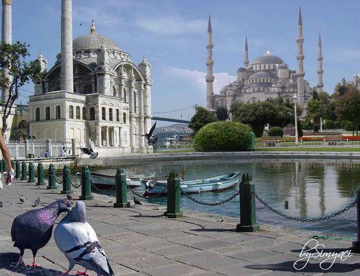 Ortaköy ve SultanAhmet Camii Mix