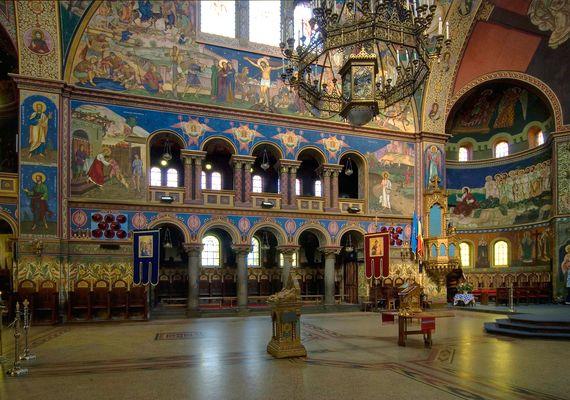 Orthodoxe Kathedrale in Sibiu - Hermannstadt. Detailaufnahme.