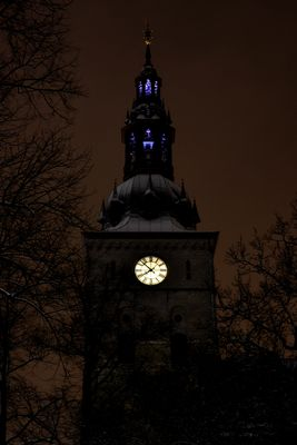 * Oslo domkirke by night *
