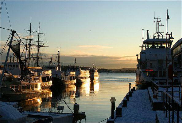 Oslo-Fjord im Dezember