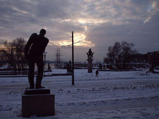 Oslo in a cold winter night