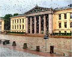 Oslo sotto pioggia