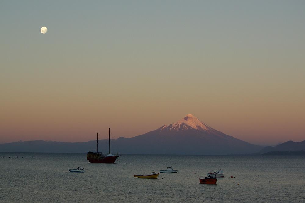 Osorno 2652m im Abendlicht