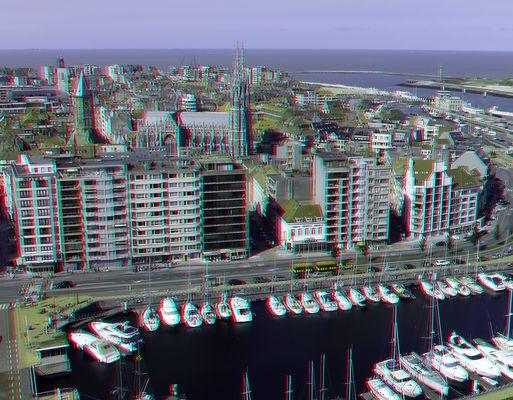 Ostende (Belgien) Panorama St. Peter & Paul 3D