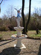Osterbrunnen featuring a blue rabbit