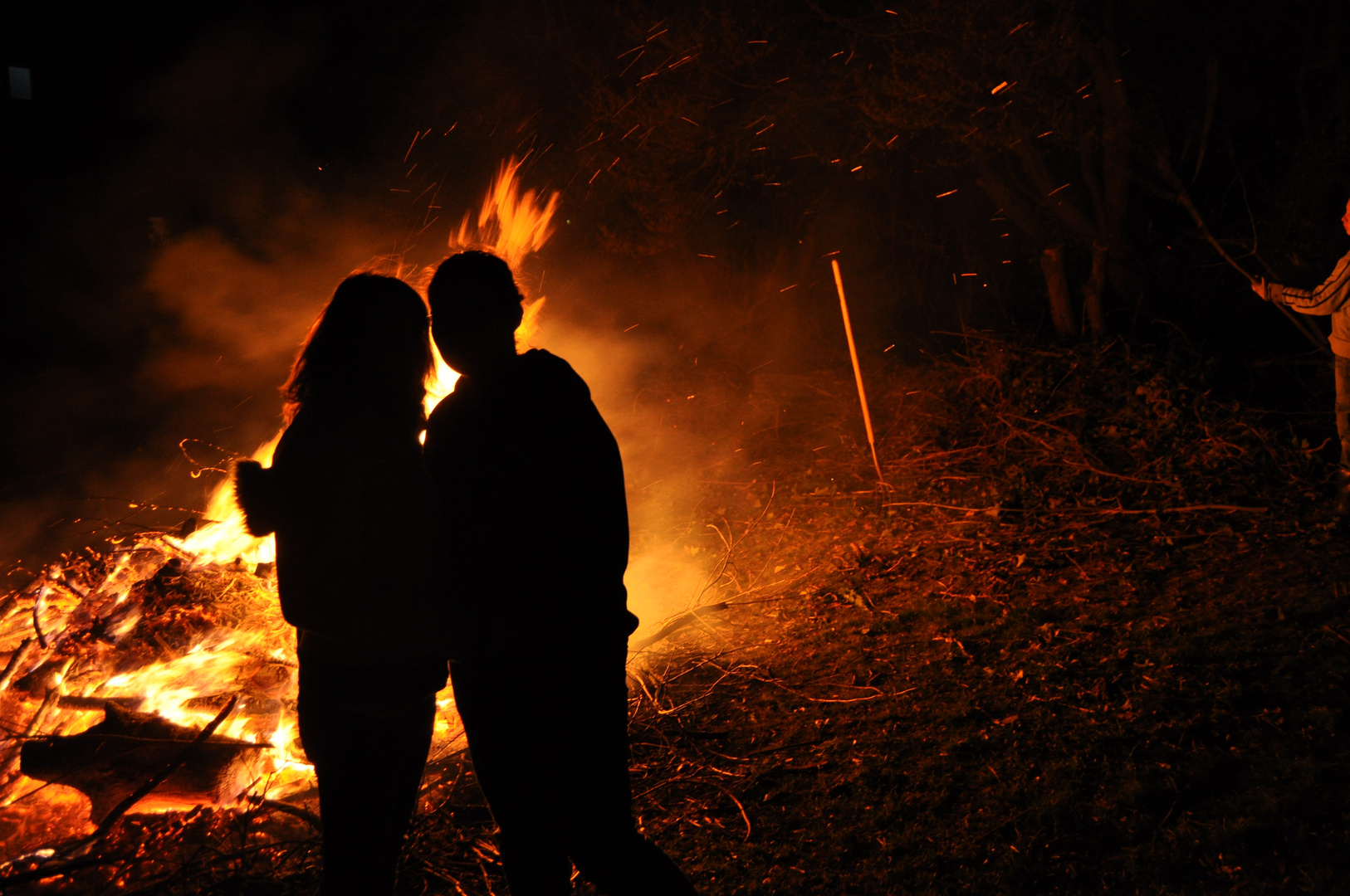 Osterfeuer.