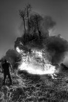 Osterfeuer auf Borkum