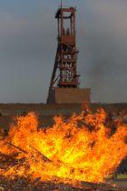 Osterfeuer auf der Zeche Zollverein