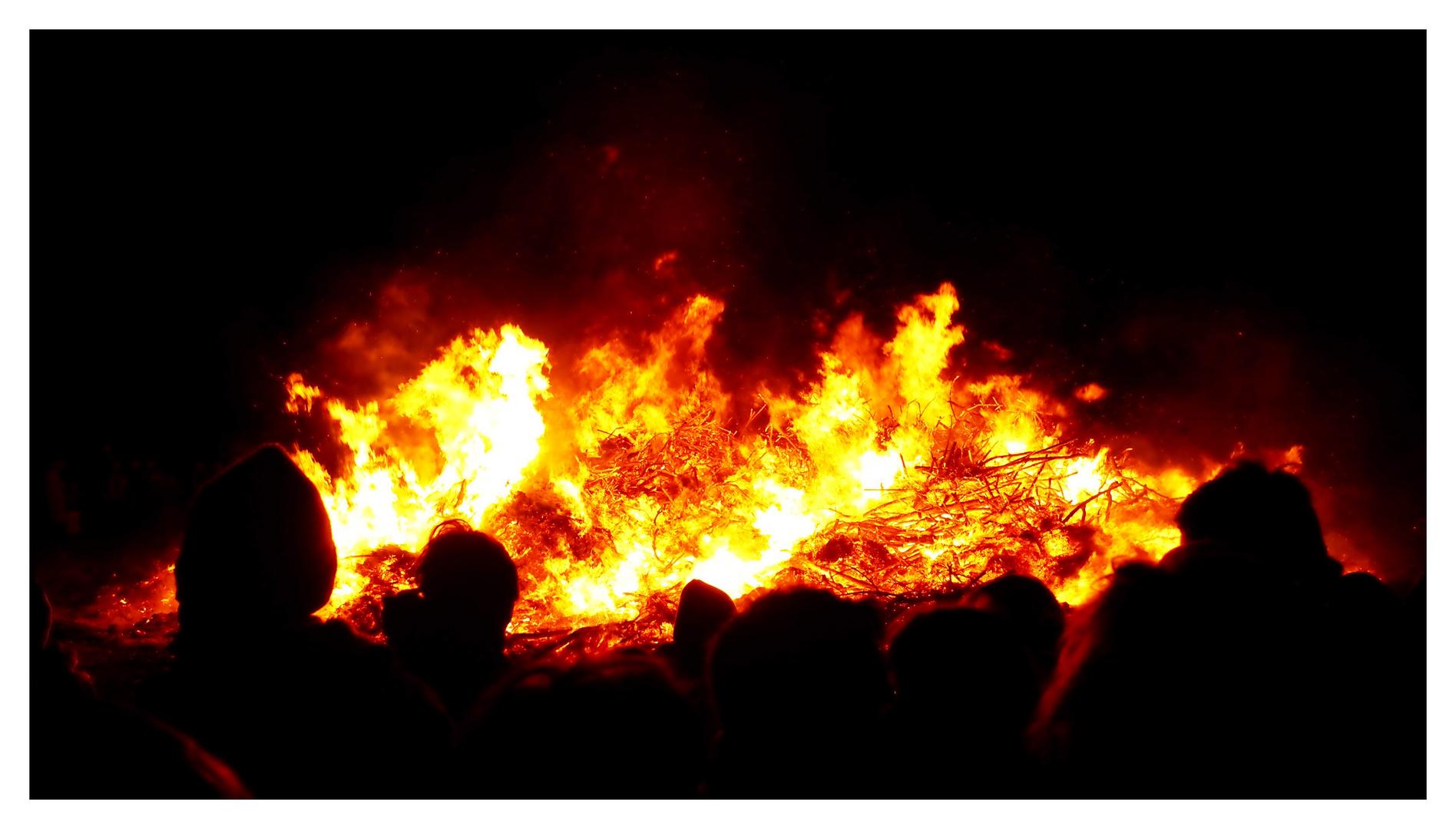 Osterfeuer auf Wangerooge