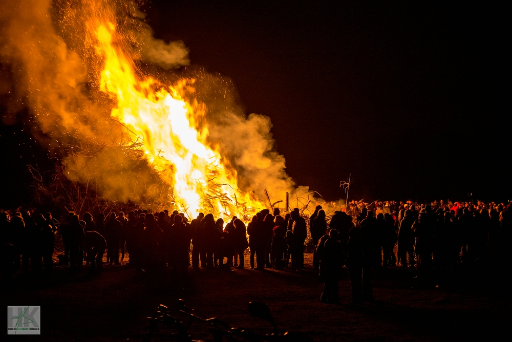 Osterfeuer in Bocholt