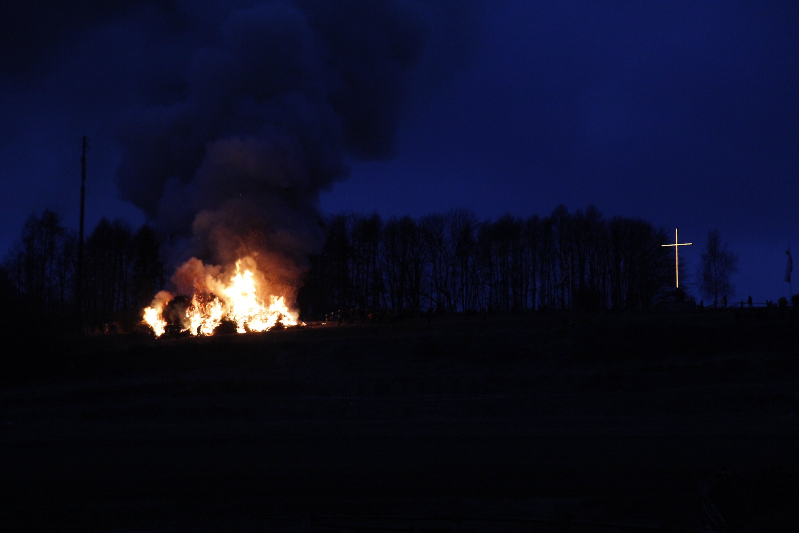 Osterfeuer in Lügde