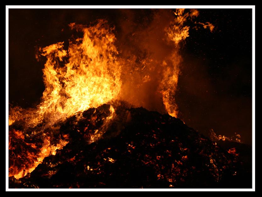 Osterfeuer in Tauscha bei Penig
