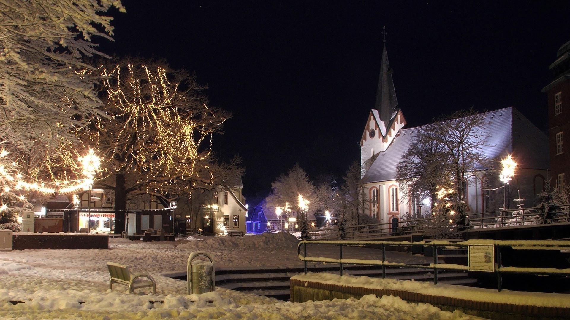 Osterholz im Schnee