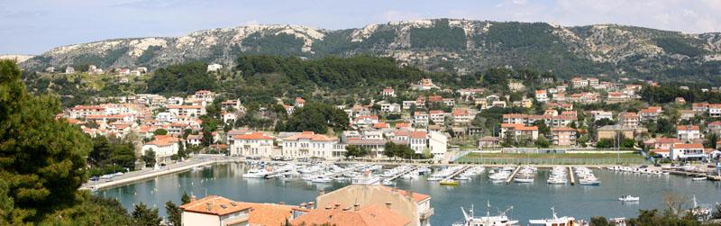 Ostern 2006 - Blick auf den Hafen von Rab (Kroatien)