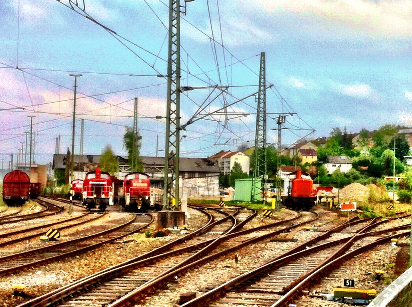 Ostern im Bahnhof Aalen