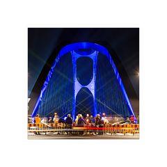 Osthafenbrücke zur Luminale 2014