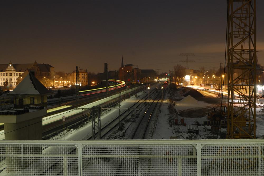 Ostkreuz bei Nacht.