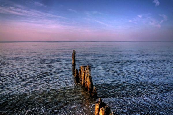 Ostsee bei Kühlingsborn im Sonnenuntergang