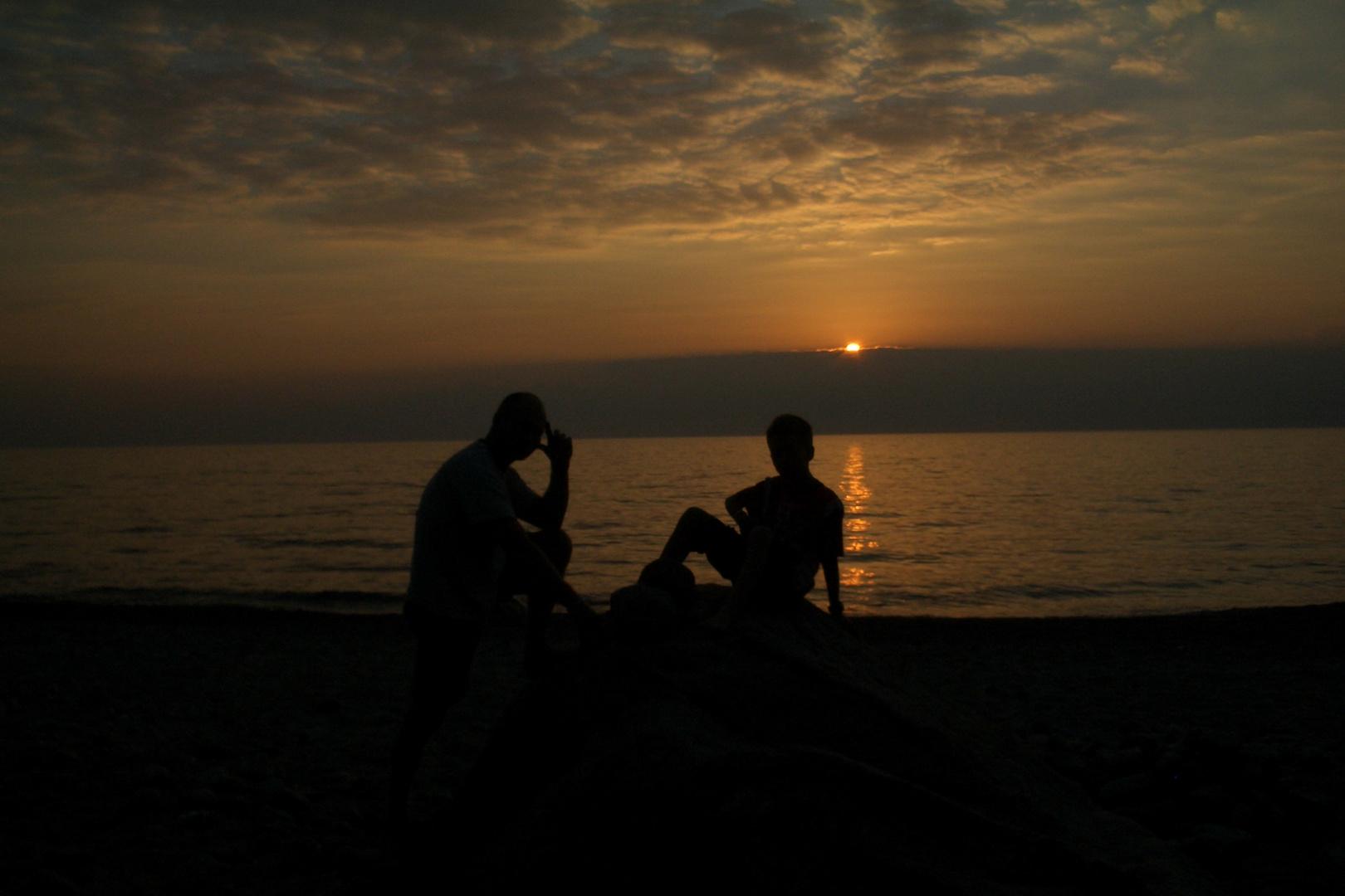 Ostsee mit Sonnenuntergang