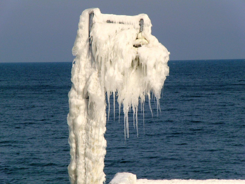 Ostsee und Schnee, Eis, Kälte