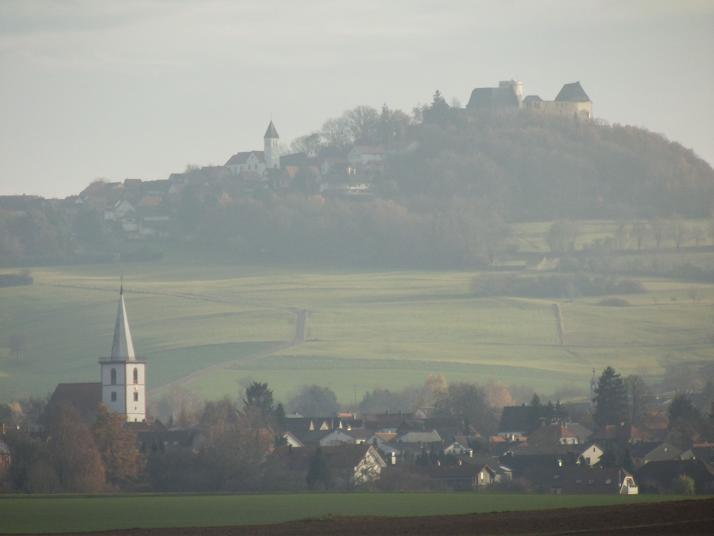 Otzberg und -Lengfeld im Herbst