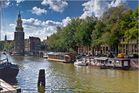 Oudeschans Kanal und Montelbaans Tower