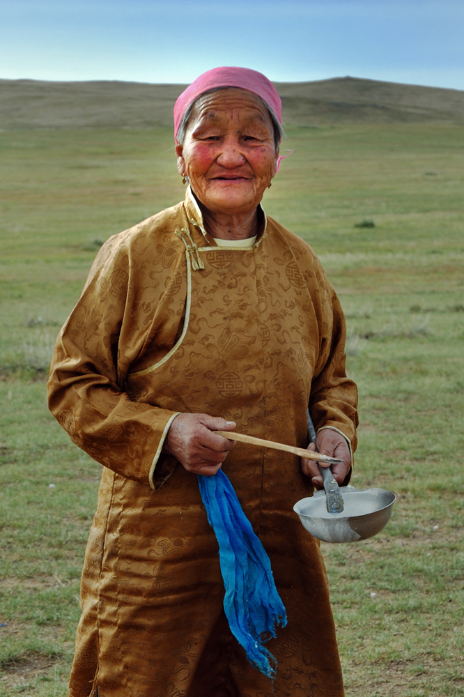 Our Mongolian host and gentle old lady