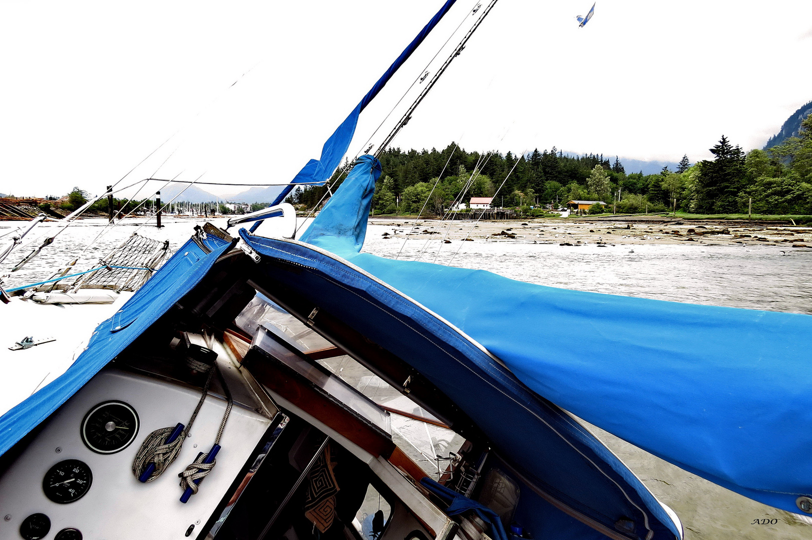 Our Sailboat - and the Sandbank