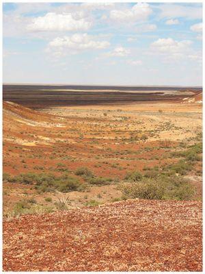 outback-ausblick, bunt gestreift