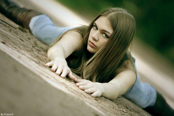 Outdoor Stretching mit Nina