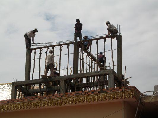 Ouvriers Cambodgiens au travail