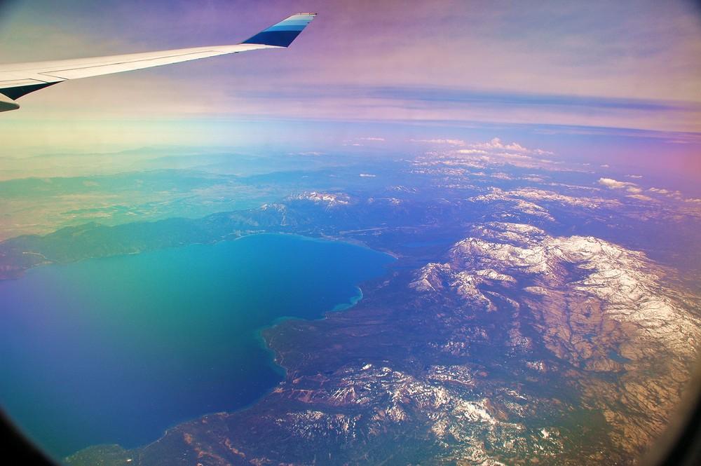 Over Lake Tahoe Nevada+Californien