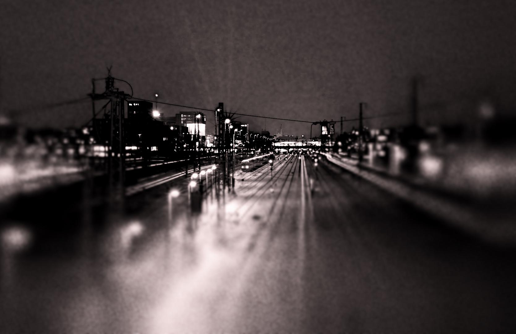 over railway lines