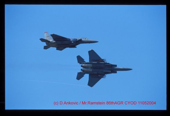 Overhead Brake Formation F-15E Strike Eagle