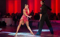 Oxana Lebedew und Pavel Zvychaynyy beim ChaChaCha