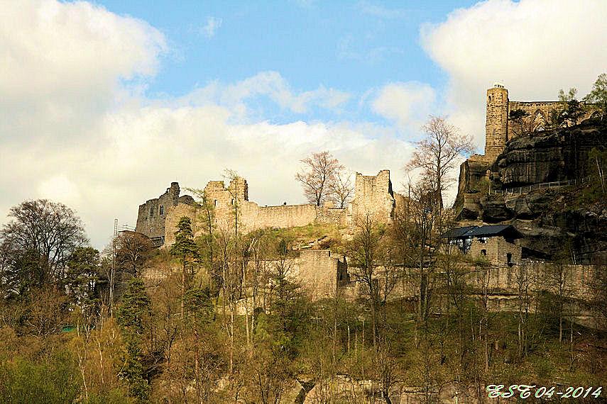 Oybin - Blick zur Burg