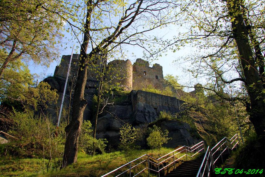 Oybin - Der Weg zur Burg