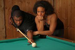 Paar am Billiardtisch  B-30