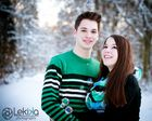 Paar im Winterwonderland