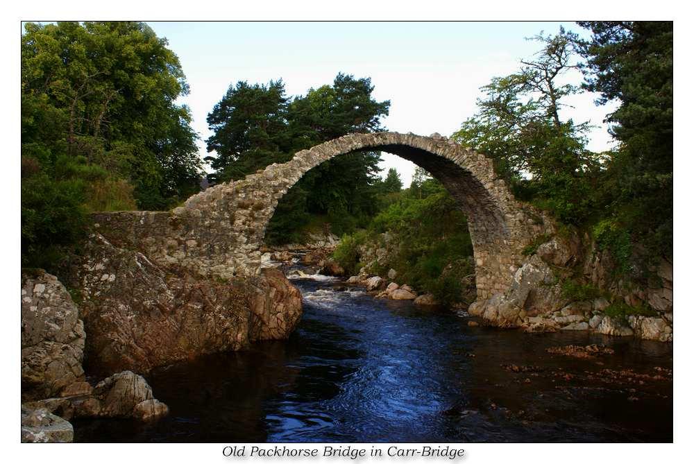 Packhorse Bridge in Carrbridge