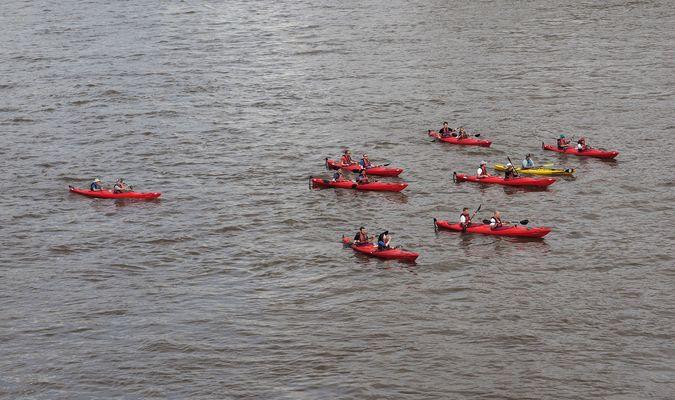 Paddeln auf der Themse