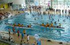 Paddeln im Schwimmbad
