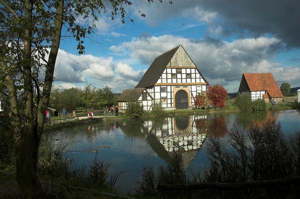 Paderborner Dorf im Westfälischen Freilichtmuseum bäuerlicher Kulturdenkmale Detmold