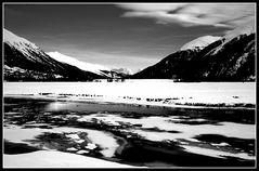 Paesaggio invernale in b/N